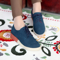 Women Flats Flock Lace Up Casual Shoes Woman Loafers 6510