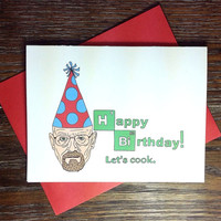 Breaking Bad Walter White Birthday Card
