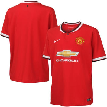 2014/15 Manchester United FC Nike Youth Home Stadium Soccer Jersey – Red - http://www.shareasale.com/m-pr.cfm?merchantID=7124&userID=1042934&productID=544535243 / Manchester United FC