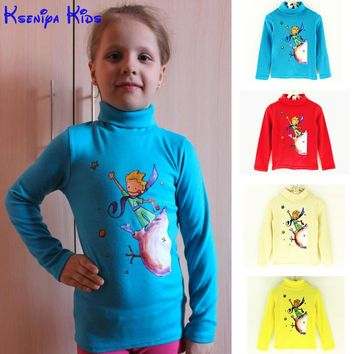 2017 the Little Prince unisex children t shirts cotton long sleeve girl t shirt boys clothing kids clothes girls clothing 2-10y