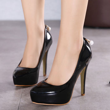 Korean Stylish High Heel Pointed Toe Fashion Shoes = 4814813828