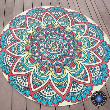 Round Mandala Chiffon Tapestry Beach Throw