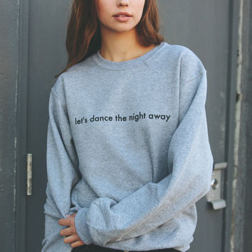 Let's Dance The Night Away Oversized Sweater - Grey