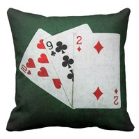 Blackjack 21 point - Ten, Nine, Two Throw Pillow