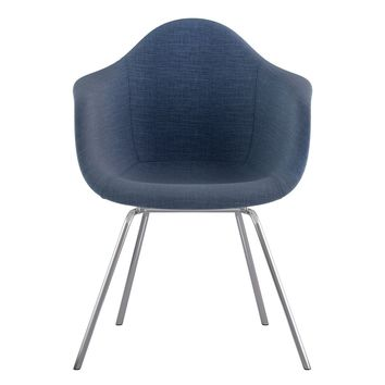 Mid Century Classroom Arm Chair Dodger Blue
