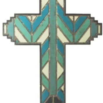 Cowgirl Kim Stained Glass Cross