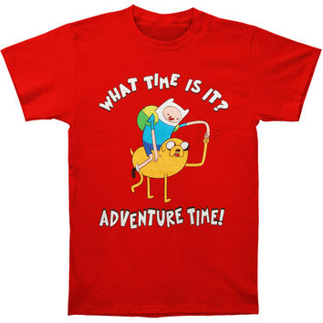 Adventure Time Men's  Fist Dap Up High Youth T-shirt Red Rockabilia
