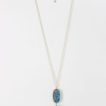 Crystal Filled Pendant Necklace