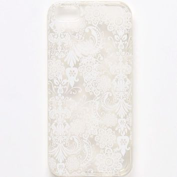 With Love From CA White Lace iPhone 5 Case - Womens Scarves - White - One