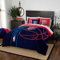 Oklahoma City Thunder NBA Full Comforter Bed in a Bag (Soft & Cozy) (76in x 86in)