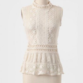 Victorian Romance Crocheted Lace Top