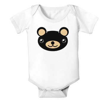 Kyu-T Head - Night Beartholomew Teddy Bear Baby Romper Bodysuit