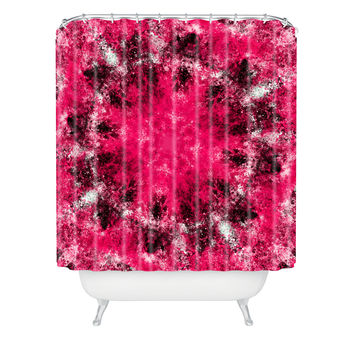 Caleb Troy Electric Pink Whirlpool Shower Curtain