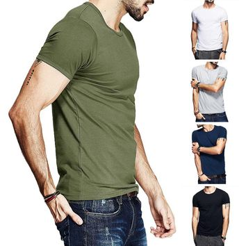 Mens T-Shirt Slim Fit Short Sleeve Tee