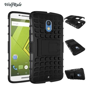 WolfRule For Moto X Play Cover Silicone & Plastic Holder Case For Motorola Moto X Play Case X3 Lux XT1562 For Moto X Play Capa <