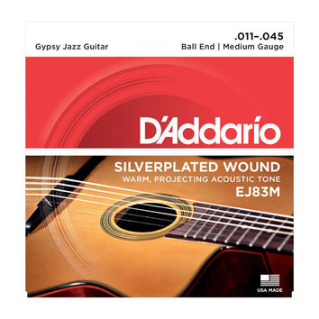 D'Addario EJ83M Silver Wound Gypsy Jazz Guitar String Medium