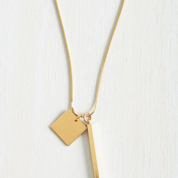 Minimal Shape It Up Necklace by ModCloth