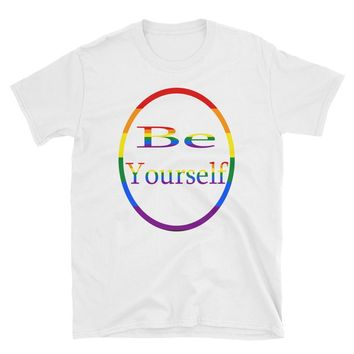 Be yourself short-sleeve unisex t-shirt