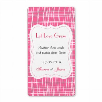 Wedding Favors Seed Packet Labels Let Love Grow from Zazzle.com