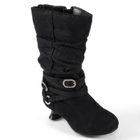 Journee Collection Joy Midcalf Slouch Boots - Toddler Girls (Black)