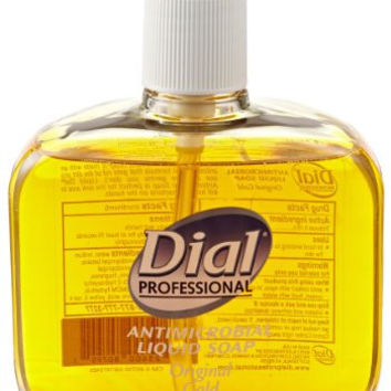 Dial 1159413 Gold Antimicrobial Liquid Soap with Tabletop Pump, 16oz Bottle (Pack of 12)