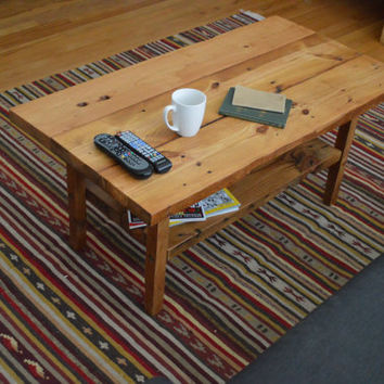 Reclaimed Wood Coffee Table - Free Shipping - Made from 100% recycled wood from Baltimore (Eco Friendly)