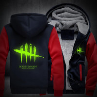 USA size Men Women Dead by Daylight Luminous Jacket Sweatshirts Thicken Hoodie Coat Clothing Casual