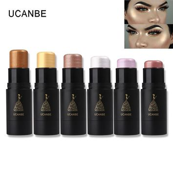 UCANBE Brand Shimmer Highlighter Stick Makeup Waterproof Contouring Bronzer Highlighting Cream Pencil 3D Face Cosmetics Pen Set