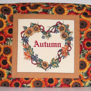 Toaster Cover - Autumn Wreath and Sunflowers