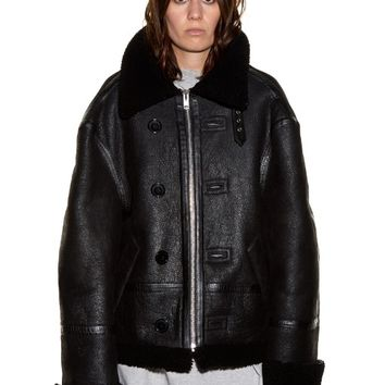 Oversized shearling jacket | Vetements | MATCHESFASHION.COM US