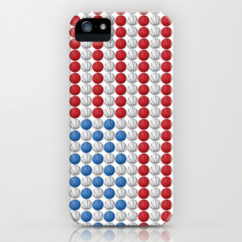 Basketball American Flag iPhone & iPod Case by LGD.