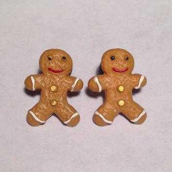 Gingerbread Boy Plugs & Earrings 14g-2g