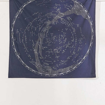 Glow-In-The-Dark Constellation Map Tapestry - Urban Outfitters