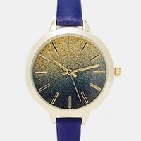 ASOS Large Face Glitter Watch