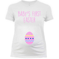 Easter Maternity Announcement Easter T Shirt Pregnancy Reveal Easter Outfit Pregnancy TShirt New Mom To Be Baby's First Easter - SA1036
