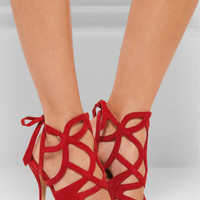 Paul Andrew - Ella cutout suede sandals