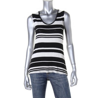 Red Haute Womens Knit Striped Tank Top