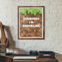 Minecraft Poster, Geekery art , minecraft art, creeper, mine craft