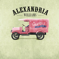 Personalized with Name Classic Vintage Style Pink Ice Cream Truck Room Wall Art Print by Caramel Expressions