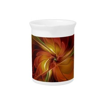Warmth, Abstract Fractal Art Drink Pitchers