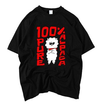 Bangtan boys jin cartoon image printing 100% pure alpaca t shirt for kpop fans unisex fashion summer short sleeve t-shirt
