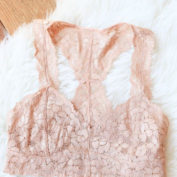 Beauty Lace Bralette, Nude
