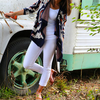 On the Verge Cardi {Navy} - ONE-SIZE