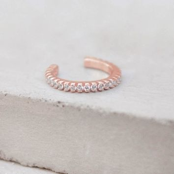 No Piercing Eternity Ear Cuff - Rose Gold