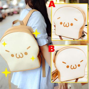 Cute Emoticon Kaomoji kun Anime Watamote Tomoko Doll PU School Bags Backpack