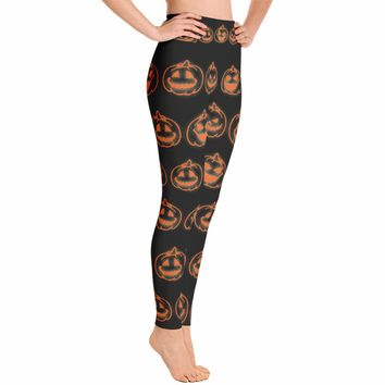 Pumpkin Halloween Costume Leggings