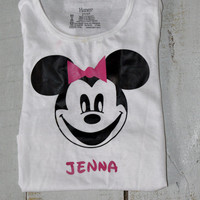 Custom Mouse Shirt/ Mickey Mouse or Minnie Mouse Inspired/ Disney Inspired/ T- Shirt/ Bodysuit/ Onesuit