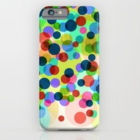Happy Rainbow Confetti iPhone & iPod Case by Miss L In Art