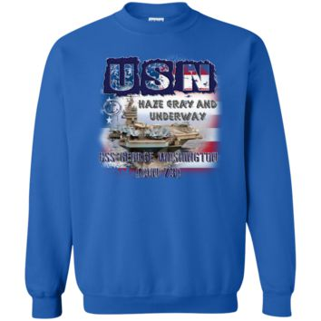 USS GEORGE WASHINGTON : G180 Gildan Crewneck Pullover Sweatshirt  8 oz.