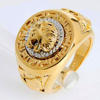 Trendy 10mm Gold Plated Wedding Wedding Bands For Men R052